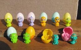 Kinder 1993 : Série Complète Les Bébés Dans L'œuf + 2 Variantes (8 Figurines) - Kinder & Diddl