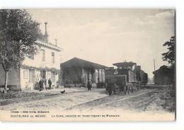 CPA 33 Castelnau De Medoc La Gare Et Le Train Tramway Ligne Ste Helene Margaux - Andere Gemeenten