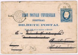 Açores, 1885, Bilhete Postal Açores-Amesterdam - Azores