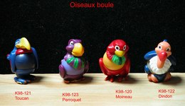 Kinder 1997 : Série Complète Les Oiseaux Boules (4 Figurines) - Kinder & Diddl