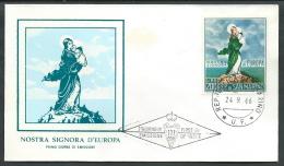 1966 SAN MARINO FDC RE.RU. EUROPA NO TIMBRO ARRIVO - KS10 - FDC