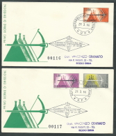 1966 SAN MARINO FDC RE.RU. ESPRESSI TIMBRO ARRIVO - KS10-3 - FDC