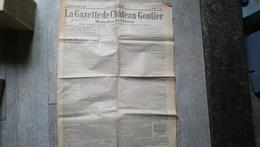 La Gazette De Château Gontier 22 Avril 1934 Journal Politique Littéraire Agricole Et Commercial Publicités - Centre - Val De Loire