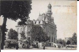 CPA  ASNIERES, L'Hôtel De Ville, Autobus 12813 - Asnieres Sur Seine
