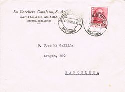 24756.  Frontal Comercial SAN FELIU De GUIXOLS (Gerona) 1954. La Corchera Catalana - 1931-Aujourd'hui: II. République - ....Juan Carlos I