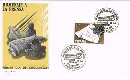 24758.  Carta BARCELONA 1981. Homenaje A La Prensa. - 1981-90 Cartas