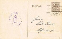 24759.  Entero Postal Privado Servicio Oficial STUTTGART (Alemania Reich) 1911 - Oficial