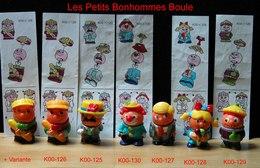 Kinder 1999 : Série Complète Les Bonhommes Boule Avec 5 BPZ (6 Figurines) - Kinder & Diddl