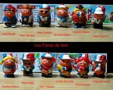 Kinder 2002 : Série Complète Les Fana D'Foot Avec 1 BPZ (12 Figurines) - Kinder & Diddl