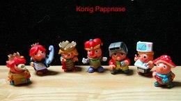 Kinder 1999 : Série Allemande : Kônig Pappnase Und Sein Hofstaat Avec 1 BPZ (8 Figurines) - Kinder & Diddl
