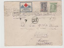 GRII013 /  GRIECHENLAND - Brief An Das Rote Kreuz Genf, Rückseitig Zensiert 1919 - Grecia