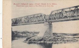 Transsibirische Eisenbahn Auf Der Brücke über Die Jaia     (A-45-120217) - Russia