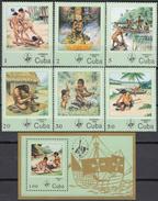 CUBA 1985, PRIMITIVE LIFE, COMPLETE MNH SET + BLOCK, GOOD QUALITY, *** - Unused Stamps