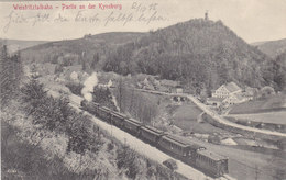 Weistritztalbahn - Partie An Der Kynsburg Mit Dampfzug - 1915    (A-45-120217) - Polen