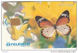 MALAYSIA(chip) - Butterfly, Plain Tiger, Telecom Malaysia Telecard RM10, Chip ORGA, Used - Malaysia
