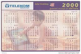 MALAYSIA(chip) - Calendar 2000, Telecom Malaysia RM10, Used - Malaysia