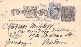 USA - POSTCARD 1886 AURORA -> POTSDAM/GERMANY Sc #UX7 - Entiers Postaux
