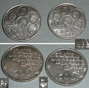 Lot 2 Pièces De 500 F Francs, Monnaie Belge, 1830-1980 150 Ans D'Indépendance De La Belgique - 1951-1993: Baudouin I