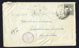 British Administration 1945  Letter To UK Soldier On Active Duty Censor & FPO Receivers - Palestine