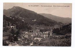 VILLEFORT (48) - VUE PANORAMIQUE BELLE STATION DE CURE D'AIR - Villefort