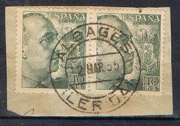 Fragmento Fechador ALBAGÉS (Lerida), Caudillo, Edifil Num 1051 º - 1931-Today: 2nd Rep - ... Juan Carlos I