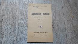 L'ordonnance Labidouille Vaudeville Militaire En 1 Acte De Virard Et Verse Rare - Autres