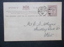 Victoria-Australia: 1887 Postal Card To USA (#GR9) - 1850-1912 Victoria