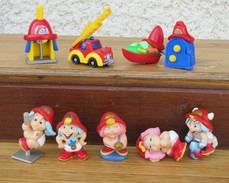 Kinder 2006 : Série Les Baby Pompier Avec 3 BPZ (9 Figurines) - Lots
