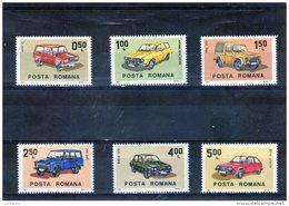 1983 - Automobile Roumaine Mi 3950/3955 Et Yv 3443/3448 MNH - 1948-.... Republiken