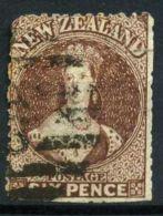 NOUVELLE-ZELANDE (  POSTE ) : Y&T N°  35  TIMBRE  BIEN  OBLITERE , A  VOIR . - 1855-1907 Crown Colony