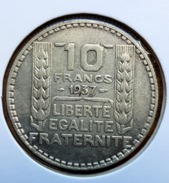 ♕  France 10 Francs TURIN Argent 1937 - TTB  ♕ - France