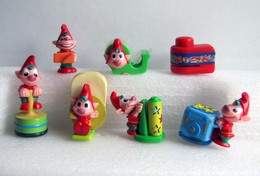 Kinder 2006 : Série Les Lutins De Noël (7 Figurines + 2 BPZ) - Lots
