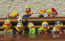Kinder 2006 : Série Complète Les Poussins Sportifs De Pâques (9 Figurines) - Kinder & Diddl