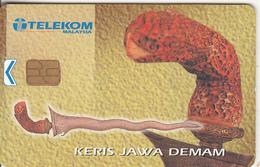 MALAYSIA - Keris Jawa Demam, Telecom Malaysia Telecard RM10, Chip ORGA, Used - Malaysia