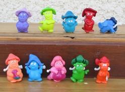 Kinder 2007 : Série Complète Les Painty Ten Avec 1 BPZ (10 Figurines) - Lots