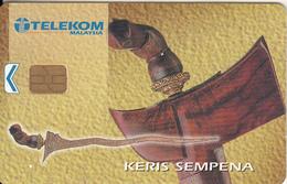 MALAYSIA - Keris Sempena, Telecom Malaysia Telecard RM5, Chip ORGA, Used - Malaysia