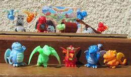 Kinder 2008 : Série Complète Les Dragons Avec 5 BPZ (10 Figurines) - Lots