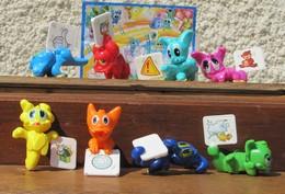 Kinder 2008 : Série Complète Les Dinos Messagers Avec 1 BPZ (8 Figurines) - Lots