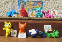 Kinder 2008 : Série Complète Les Dinos Messagers Avec 1 BPZ (8 Figurines) - Kinder & Diddl