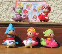 Kinder 2008 : Série Complète Les Mangas Avec 2 BPZ (10 Figurines) - Kinder & Diddl