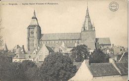 Soignies.  -  Eglise Saint-Vincent Et Panorama - Soignies