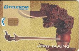 MALAYSIA - Keris Tajung, Telecom Malaysia Telecard RM50, Chip ORGA, Used - Malaysia