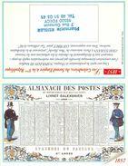 CALENDRIER DE POCHE 2000 PHARMACIE A FOECY CHER THEME POSTIERS  CALENDRIER DES POSTES 1857 - Calendriers