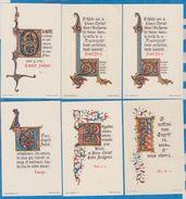 Image Pieuse -  SANTINO - Holly Card -  LOT De 6 Images - A - Devotion Images