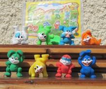 Kinder 2008 : Série Complète Les Lapins De Pâques Avec 1 BPZ (8 Figurines) - Lots