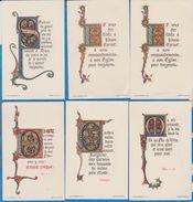 Image Pieuse -  SANTINO - Holly Card -  LOT De 6 Images - B - Devotion Images