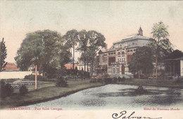 Tienen - Tirlemont - Parc Saint Georges - Hôtel Du Nouveau Monde (gekleurd, 1903) - Tienen