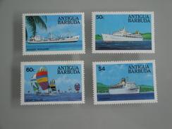 1984 Antigua Barbuda Yvert 735/8 ** Bateaux  Ships Scott Xx  Michel 756/9  SG 830/3 - Antigua Et Barbuda (1981-...)
