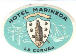 ETIQUETA DE HOTEL  -HOTEL MARINEDA  -LA CORUÑA - Etiquetas De Hotel