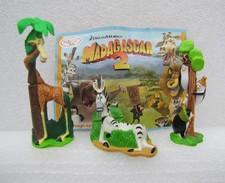Kinder 2009 : Madagascar 2 : Les 3 Pingouins - Marty Le Zébre – Melman La Girafe Avec Un BPZ (3 Figurines) - Kinder & Diddl